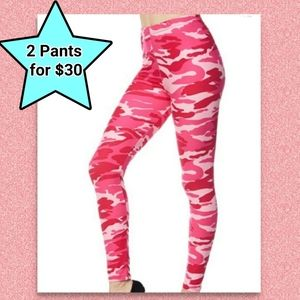 Pink Camo Leggings Camouflage NWT Joggers Yoga NEW